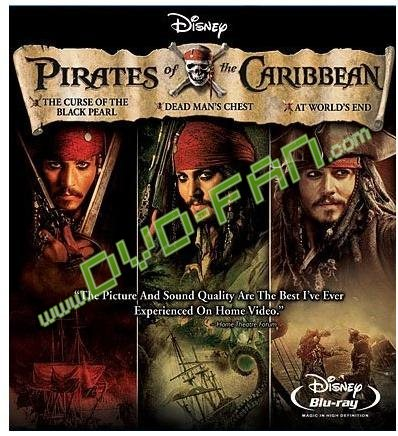 Pirates of the Caribbean Trilogy DVD Movie Box Set