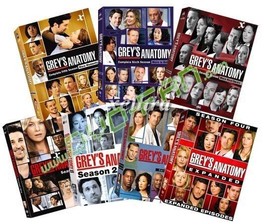Greys Anatomy Season 1 7 Dvd Wholesale